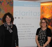 Directors Melanie Ando and Sally James at Claritas Launch